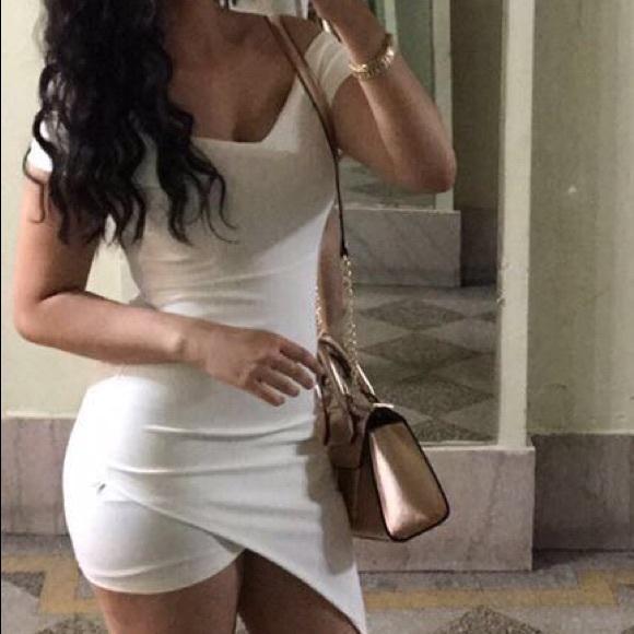 4078c13f15be Fashion Nova Dresses   Skirts - Bodycon White Off the Shoulder Mini Dress